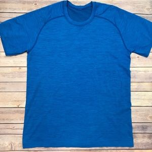 Lululemon Mens Blue Crewneck Short Sleeve Shirt L